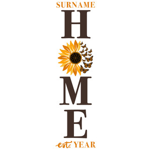 home monarch sunflower porch sign