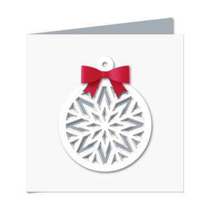 snowflake ornament card w 3d bow