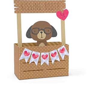 box card kissing booth dog
