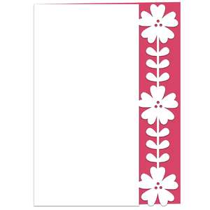 wild rose stem lace edged card