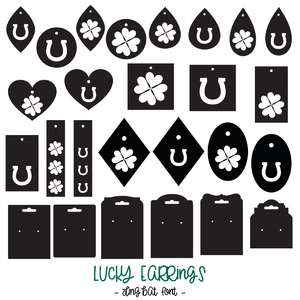 lucky earrings dingbat font