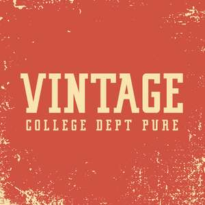 vintage college dept pure