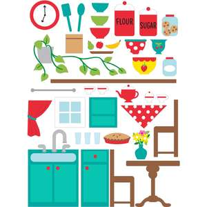 dollhouse stickers kitchen