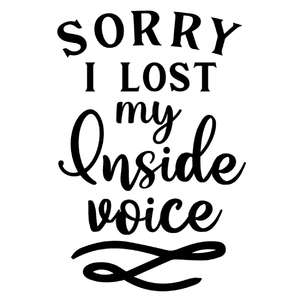 sorry lost inside voice