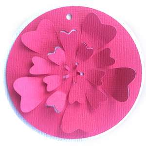 rose flower gift tag