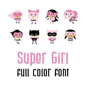 super girl full color font