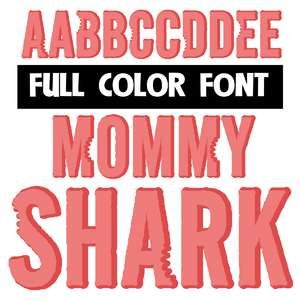 mommy shark color font