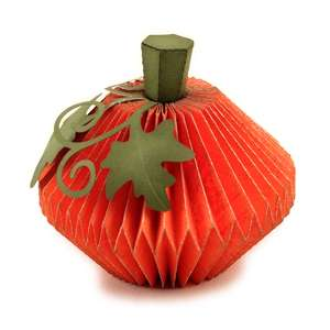 pumpkin pleated 3d form