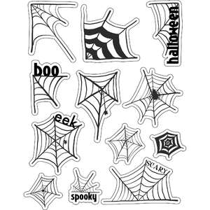 ml halloween spider webs stickers