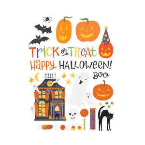pumpkin party stickers