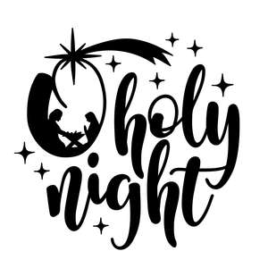 o holy night with nativity scene