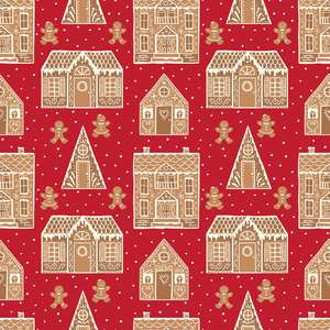 holiday gingerbread houses pattern