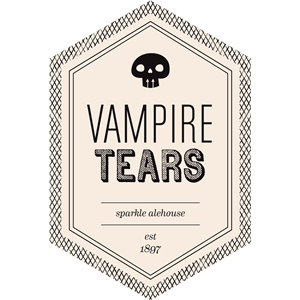 vampire tears beverage label