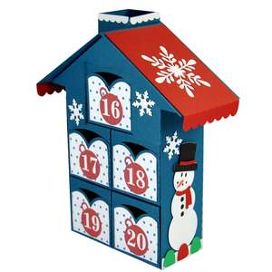 christmas advent village drawers 16-20 – snowman