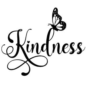kindness butterfly word