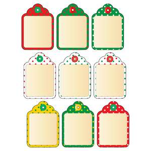 christmas polka dot tags