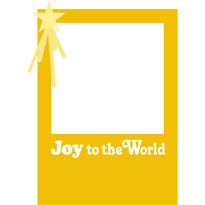 joy to the world photo card