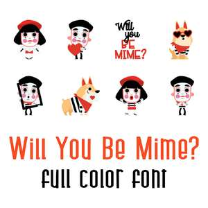 will you be mime - full color font