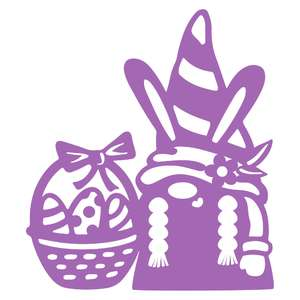 easter girl gnome with basket