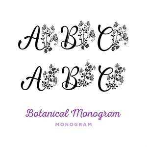 botanical monogram