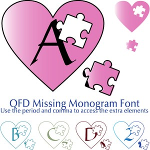 qfd missing monogram font