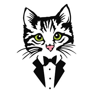 kitty in tux