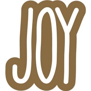 gingerbread joy word