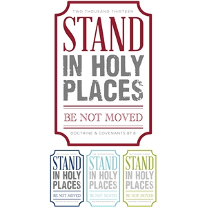 stand in holy places - p&c ticketframe