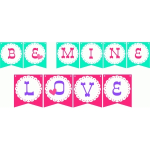 be mine and love banner