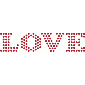 rhinestone love word