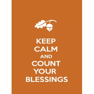 keep calm and count your blessings quote card
