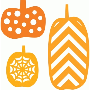 3 decorative pumpkins
