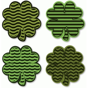 4 clovers with patterns