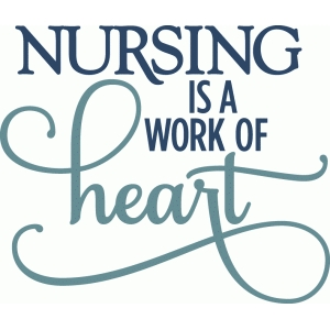 kolette - nursing is a work of heart - layered phrase
