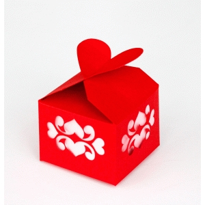 cutout heart favor or treat box