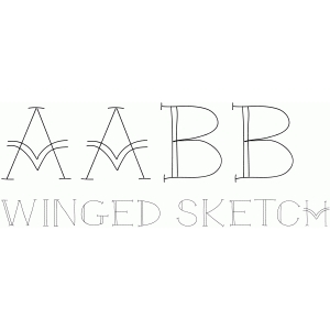 winged sketch font