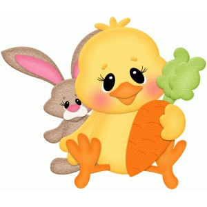 easter chick w bunny