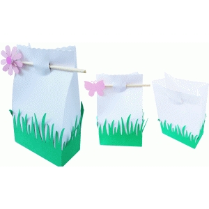 grass and butterfly treat bag