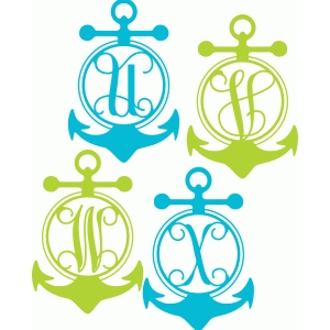 anchor monogram alphabet