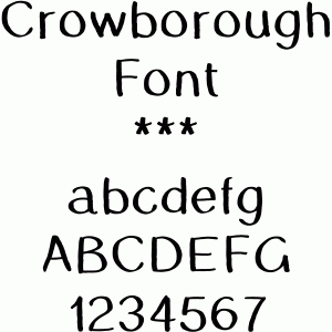 crowborough font