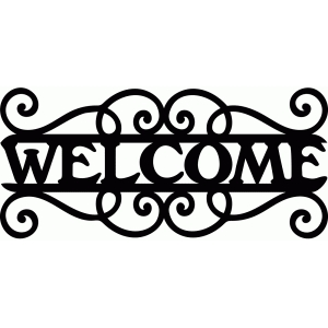 welcome flourish sign