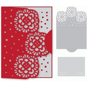blooming edge foldover card