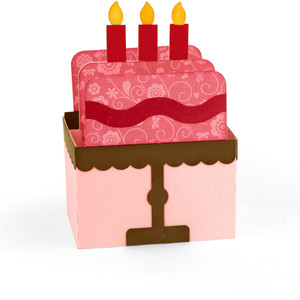 birthday cake box card