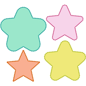 8 piece star and scalloped mat set