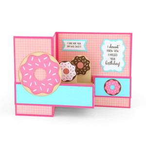 pop up box card donut