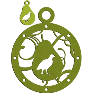 partridge with pear charm & ornament