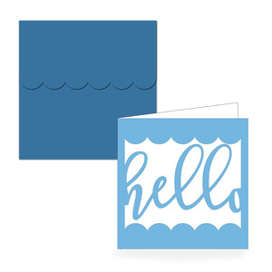 square hello folded card & envelope
