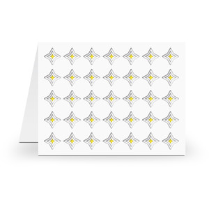 a2 stacking card base 4 point star