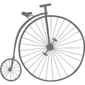 old-fashioned bicycle