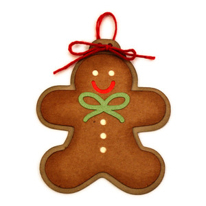 gingerbread man ornament for tree